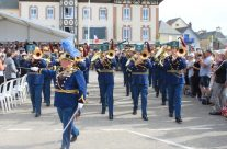 Normandy band at the Arromanches Ceremony – Normandy & D-Day Landings 70th Anniversary Ceremony & Battlefield Tour