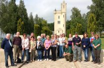 The Group at the Ulster Tower – Somme Battlefield Tour