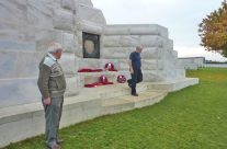 Members of our group from the Ox & Bucks WFA laying a wreath at Tyne Cot Cemetery – Somme and Ypres Battlefield Tour