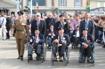 WW2 Veterans arriving at the Arromanches Remembrance Ceremony – Normandy & D-Day Landings 70th Anniversary Ceremony & Battlefield Tour
