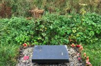 Harry Patch Memorial, Langemark, dedicated by Harry to his comrades of the Duke of Cornwall's Light Infantry – Armistice in Ypres and Passchendaele 100 Anniversary Battlefield Tour