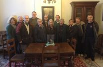 The tour party at Talbot House, Poperinge – 2013 Armistice Day in Ypres and Battlefield Tour