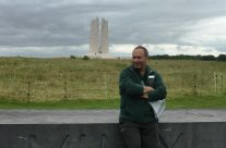 Tony at the Vimy Memorial – 100th Anniversary of the Somme Battlefield Tour