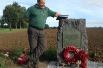 Tony Eden of Rifleman Tours at the 27th Inniskilling Memorial – Waterloo Battlefield Tour