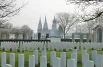 Bayeux Cathedral viewed from cemetery – Normandy and D-Day Landings Tours