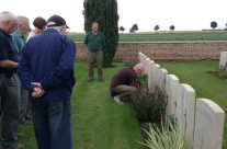 Final personal visit of the day takes place at Bancourt Cemetery – Somme Battlefield Tour
