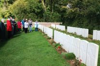 The group at Devonshire Trench Cemetery, Somme and Ypres Battlefield Tour