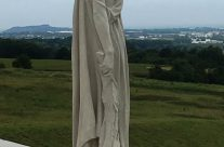 "The mourning figure of ""Mother Canada"" on the Canadian National Vimy Memorial – 100th Anniversary of the Somme Battlefield Tour"
