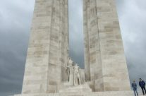 The two pylons at Vimy Ridge Memorial that represent Canada and France – 100th Anniversary of the Somme Battlefield Tour