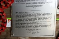 Memorial on the inside of the barn at Wormhout – Dunkirk Operation Dynamo Battlefield Tour