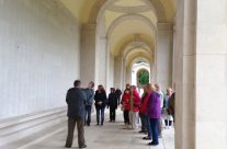 The Group pay their respects to Fran's Great Grandad at the Arras Memorial – Somme Battlefield Tour