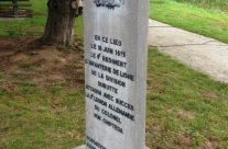 Ompteda's memorial opposite La Haye Sainte – Waterloo Battlefield Tour