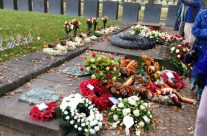 Wreaths at Langemark Cemetery – Somme and Ypres Battlefield Tour