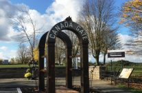 New Canadian memorial at Crest Farm, Passchendaele – Armistice in Ypres and Passchendaele 100 Anniversary Battlefield Tour