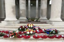 Wreaths laid on Armistice Remembrance Day at Plugstreet Memorial, Ypres Salient – 2016 Armistice Day in Ypres and Battlefield Tour