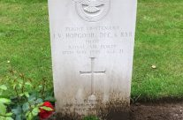 Flt Lt John Hopgood's grave at Rheinberg War Cemetery – Dam Busters Private Battlefield Tour
