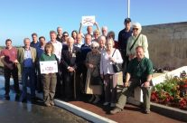 Group shot at Sworld Beach Memorial – Normandy & D-Day Landings 70th Anniversary Ceremony & Battlefield Tour