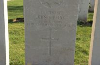 The grave of Lt John Kipling in St Mary's A.D.S. Cemetery, Battle of Loos – Arras 100 Anniversary Battlefield Tour