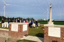 The group at the Welsh Cemetery (Caesar's Nose) – Passchendaele Anniversary Remembrance Battlefield Tour