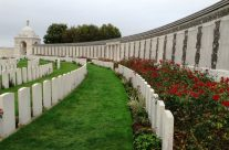 The Wall of Remembrance at Tyne Cot Cemetery, Somme and Ypres Battlefield Tour
