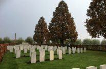 A plot at Oxford Road Cemetery, Ypres Salient – 2016 Armistice Day in Ypres and Battlefield Tour
