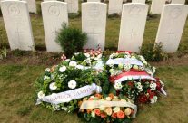 Grave of World War One poet Francis Ledwidge, killed on 31 July 1917 – Passchendaele Anniversary Remembrance Battlefield Tour