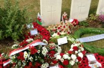 Grave of World War One poet Hedd Wyn who died on 31 July 1917 – Passchendaele Anniversary Remembrance Battlefield Tour