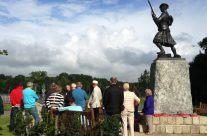 The Black Watch Memorial at Black Watch Corner, near Ypres, where the regiment and others halted a German advance despite being heavily outnumbered – 100th Anniversary of the Somme Battlefield Tour