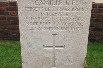 The headstone of a French interpreter at Birr Cross Cemetery, Ypres Salient – 2016 Armistice Day in Ypres and Battlefield Tour