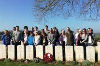 Three generations, 24 family members visit a relative in Highland Cemetery – Arras 100 Anniversary Battlefield Tour