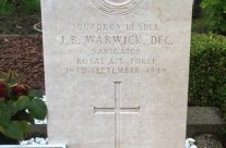 Squadron Leader Jim (Paddy) Warwick's grave in Steenbergen Roman Catholic Cemetery – Dam Busters Private Battlefield Tour