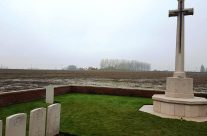 Caeser's Nose Cemetery; looking towards Pilckem Ridge, Ypres Salient – 2016 Armistice Day in Ypres and Battlefield Tour