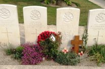 Grave of VC winner Thomas Barratt, Essex Farm Cemetery – Passchendaele Anniversary Remembrance Battlefield Tour