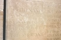 Lt John Kipling's name on Loos Memorial – Loos and Ypres Battlefield Tour