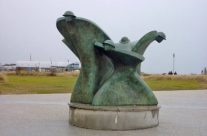 Remembrance and Renewal statue at Juno Beach – Normandy and D-Day Landings Tour